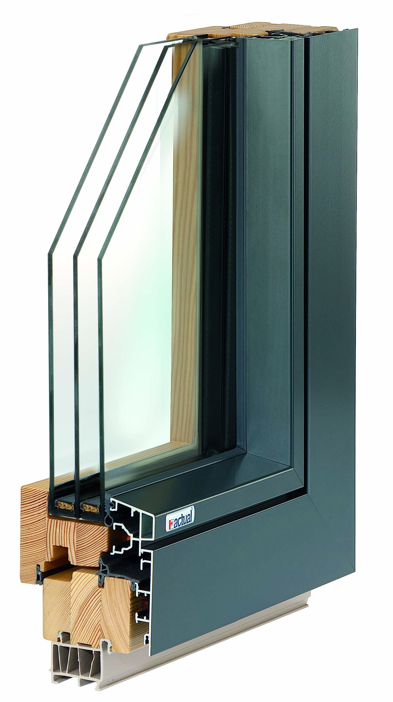 CUBIC F.line fa-alu ablak háromrétegű üveggel