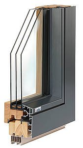 Cubic F.line fa-alu ablak melegperemes háromrétegű üveggel