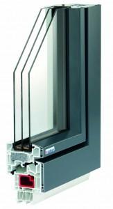 Energia Zseni ablak háromrétegű üveggel, melegperemmel, hőszigetelő betéttel, üvegszálas merevítéssel