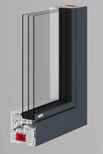 ALEVO műanyag-alu ablak